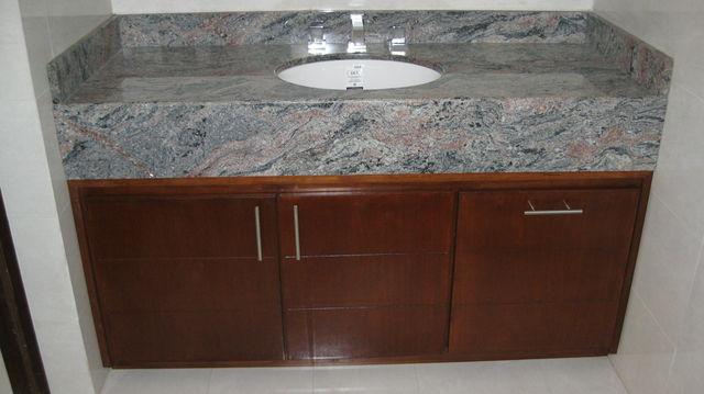 Mueble para ba o en madera de banak carpinteria con clase - Mueble de bano madera ...